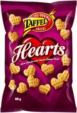 Taffel Hearts maustettu maissisnacks 60g