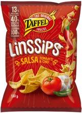 Taffel Linssips Salsa Maustettu Linssisipsi 130G