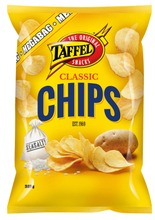 Taffel Chips Classic suolattu perunalastu 325g