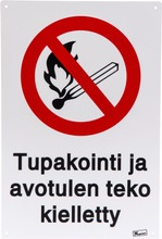 Tupakointi Ja Avotulen Teko Kielletty