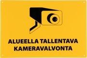 Opaste Alueella Tallentava Kameravalvonta Keltainen 30X20 Cm