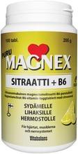 Magnex Sitraatti 375 Mg   B6 Puru 100 Tabl/205G., Kotimainen, Sitruunanmakuinen Magnesiumsitraatti-B6-Vitamiini Purutabletti, Vitabalans