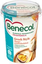 Benecol 450G Greek Style Jogurtti Mango-Passionhedelmä Kolesterolia Alentava