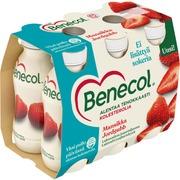 Benecol 6X100g Jogurttijuoma Mansikka Laktoositon Kolesterolia Alentava