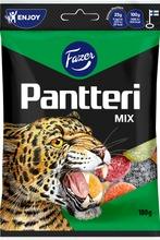 Pantteri Mix 180G Sokeroituja Hedelmä- Ja Salmiakkilakritsimakeisia