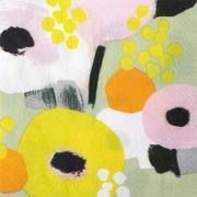 Pentik Havi Tissue Lautasliina Mimosa Keltainen 24Cm 20Kpl