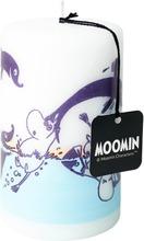 Moomin Pöytäkynttilä Silkkipainettu Delfiinit Valkoinen 7Cmx12cm 1Kpl 55 H