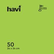 Havi 50Kpl/24Cm Lime Tissue Lautasliina