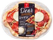 Saarioinen Pepperoni tuorepizza 350g. Paistoaika n. 6 min.