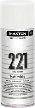Maston Colormix Spraymaali Matta Valkoinen 221 400Ml Ral 9010