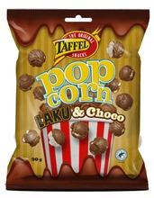 Taffel Laku Choco Popcorn Suklaakuorrutettu Popcorn 80G