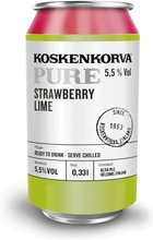 Koskenkorva Pure Strawberry Lime 5,5% 33Cl Can