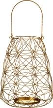 House Gold Wire pöytälyhty 24cm kulta