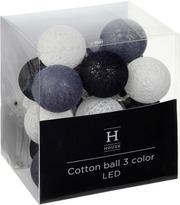 House Cotton Ball Valosarja, 3-Värinen