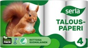 Serla Talouspaperi 4Rl Valkoinen
