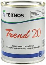 Teknos Trend 20 Remonttimaali 0,9L Pm1 Valkoinen Sävytettävissä Puolihimmeä