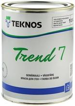 Teknos Trend 7 Seinämaali 0,9L Pm1 Valkoinen Sävytettävissä Himmeä
