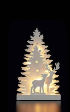 House Siluettikoriste Winter Forest 35 Cm