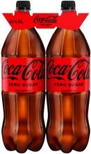 2-Pack Coca-Cola Zero Sugar Virvoitusjuoma Muovipullo 1,5 L