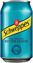 Schweppes Bitter Lemon Virvoitusjuoma Tölkki 0,33 L