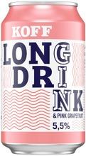 Koff Long Drink Pink Grapefruit 5,5 % Tölkki 0,33 L