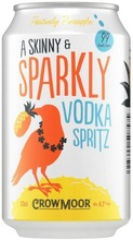Crowmoor Vodka Spritz Positively Pineapple Maustettu Alkoholijuoma 4,1 % Tölkki 0,33 L