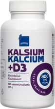 Rainbow 225G Kalsium- Ja D-Vitamiiniravintolisä 180 Tablettia