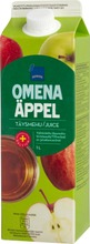 Omenatäysmehu. Valmistettu Täysmehutiivisteestä. Sisältää Kalsiumia Ja C-Vitamiinia.