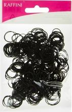 Raffini hiuslenkki silikoni musta 500kpl