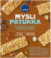 Rainbow 180G Myslipatukka Suklaa-Pähkinä 6Kpl