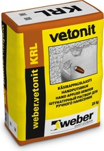 Weber Vetonit Krl 4.0 Käsirappauslaasti Täyttö 25 Kg