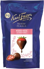 Karl Fazer Berry Pearls Maitosuklaalla Kuorrutettuja Mansikoita 90G