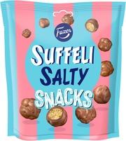 Fazer Suffeli Salty Snacks Maitosuklaanmakuisella Kuorrutteella Puffattua Maissia 160G
