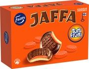 Jaffa Tutti Frutti 300G 24Kpl  Suklaalla Kuorrutettu Leivoskeksi, Jossa Appelsiininmakuista Täytettä