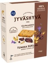 Fazer Jyväshyvä Tumma Suklaa Välipalakeksi 6X30g 180 G
