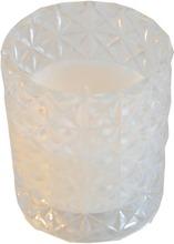 Kynttilälasi 9X9x10 Cm Valkoinen