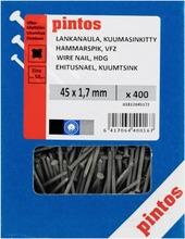 Pintos Lankanaula 45X1,7mm Kuumasinkitty 400Kpl