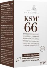 Harmonia Ksm66 Luomu Ashwagandha-Uutekapseli Ravintolisä 45G/120Kaps