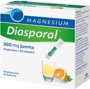 Diasporal Appelsiininmakuinen Magnesium Juomajauhe 300Mg Ravintolisä 100G/20Kpl