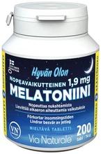 Hyvän Olon Nopeavaikutteinen Melatoniini 1.9Mg 200Tabl