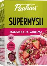 Paulúns Mansikka Ja Vadelma Supermysli 400G