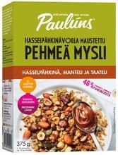 Paulúns Hasselpähkinä-Manteli-Taateli Pehmeä Mysli 375G
