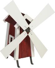 Miljöökoriste Tuulimylly Puinen Puna-Valkoinen 69X34x38cm
