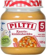 Piltti 125G Kasvis-Kinkkuherkku Lastenateria 5Kk