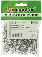 Fix Master Vetoniitti Alumiini Kupukanta 3,2X10 100Kpl