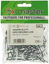 Fix Master Vetoniitti Alumiini Kupukanta 3,2X8 100Kpl