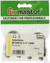 """Fix Master Vaijerilukko 1/2"""" - 13Mm Sinkitty 2Kpl"""