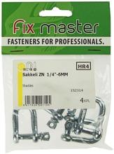 """Fix Master Sakkeli 1/4"""" - 6Mm Sinkitty 4Kpl"""