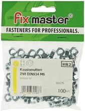Fix Master Kuusiomutteri M6 Sähkösinkitty 100Kpl