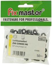 Fix Master Nylock-Lukitusmutteri M6 Sinkitty 50Kpl